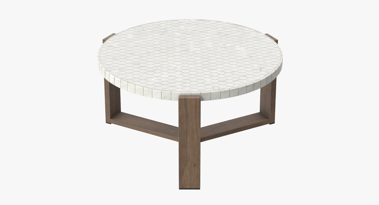 3d patio coffee table 03 model