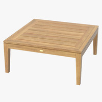 patio coffee table square 3d model