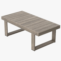 3d model patio coffee table
