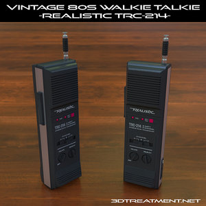 3d vintage walkie-talkie realistic trc-214 model
