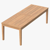 patio dining table rectangle c4d