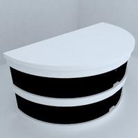 3d otel desk model