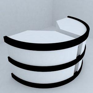 otel desk 3d max