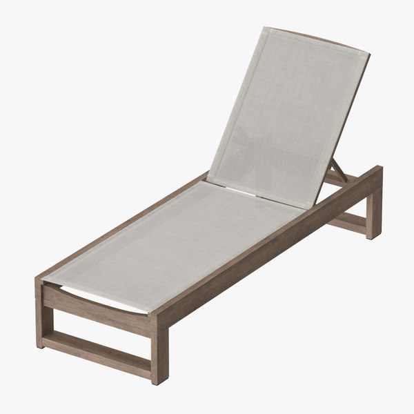 3d model of outdoor chaise 03