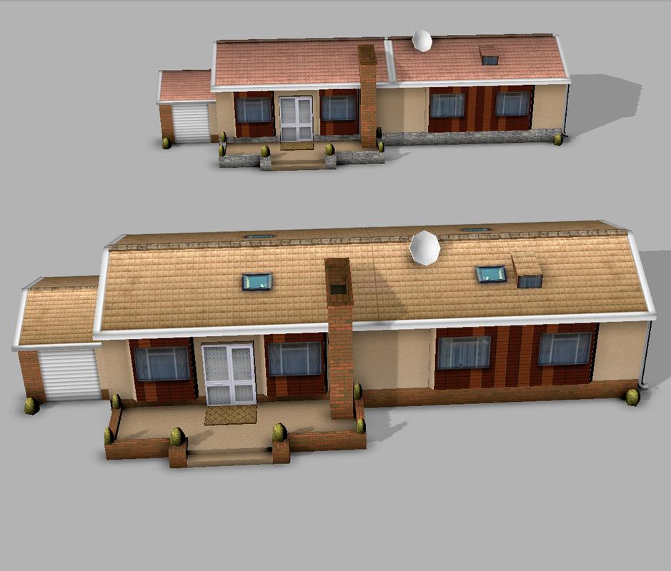 houses ready mobile 3d model