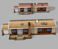 houses ready mobile 3d model
