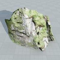 scan rock face 3d model