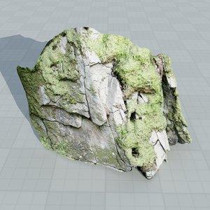 scan rock face 3d model