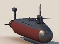 nuclear ballistic missile submarine 3d model