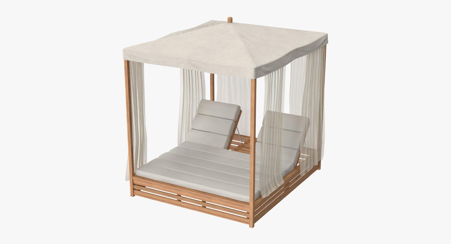 outdoor bed 01 3d model