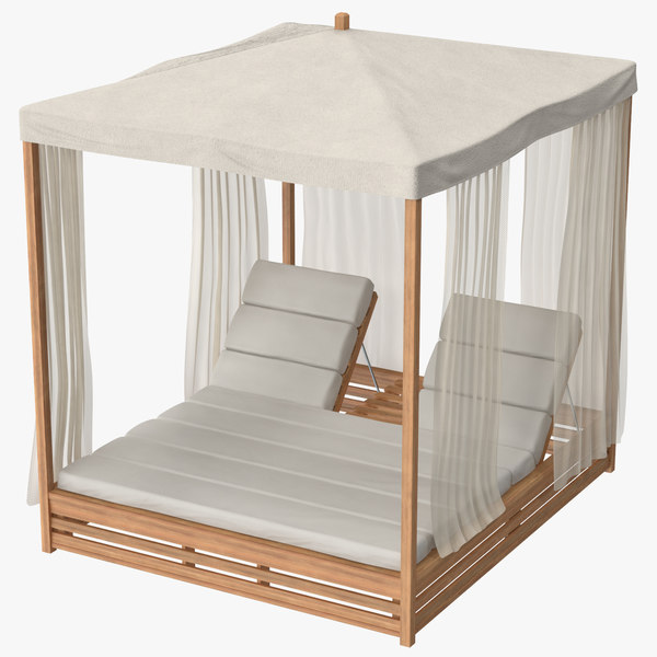 outdoor bed 01 3d model