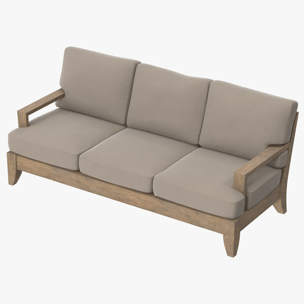 patio couch 03 3d model