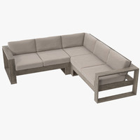 patio sectional 01 3d max