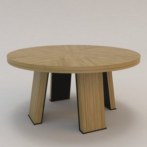 3d artois ronde dining table