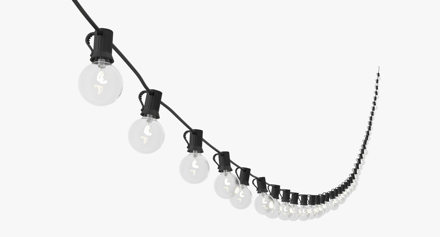 3d model of string lights 03