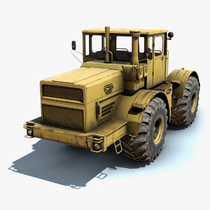 low-poly tractor k-701 3d 3ds