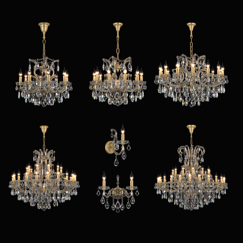 chandelier champa osgona 3d model