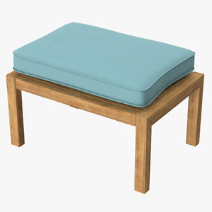 3d outdoor ottoman square 01 model