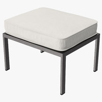 3d outdoor ottoman square 02