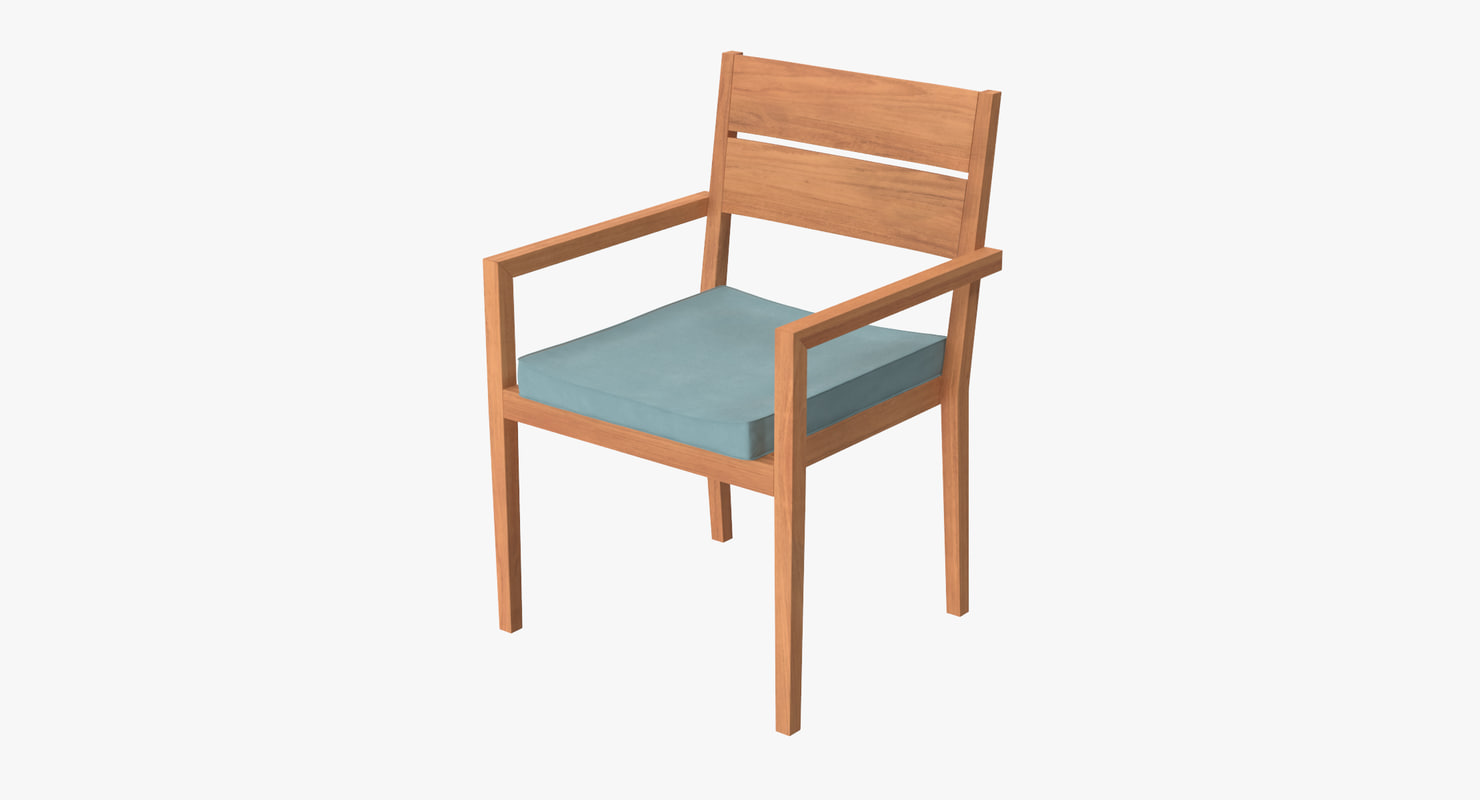 3d patio chair 01 model