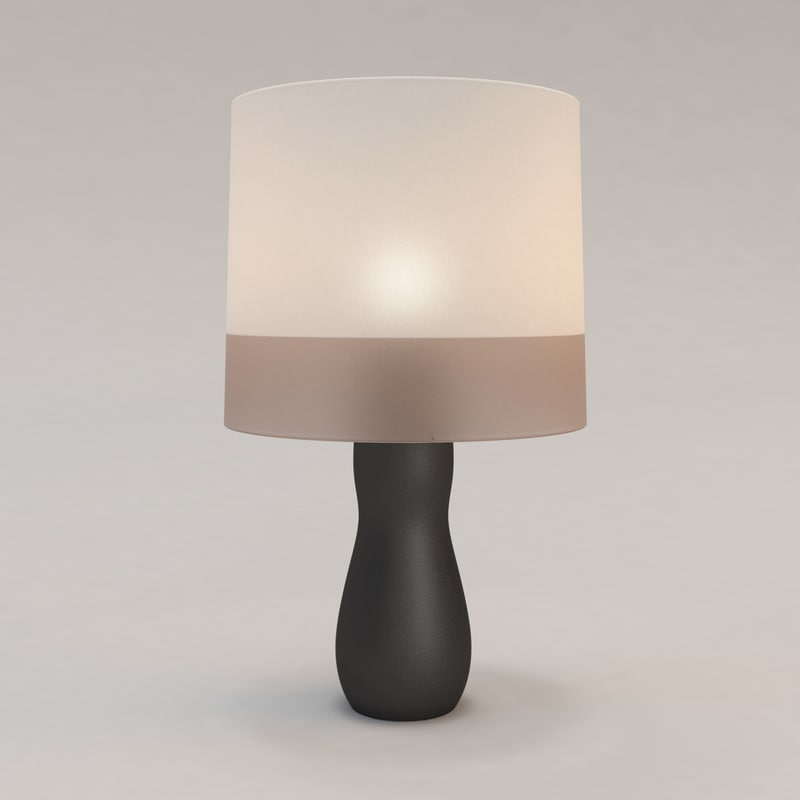calebasse table lamp christian 3d model