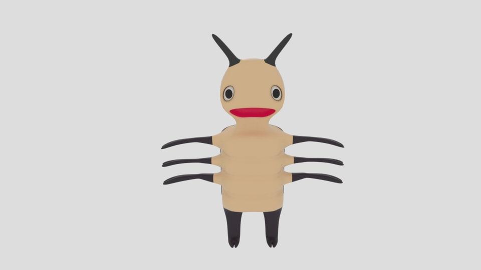 3ds cartoon bug