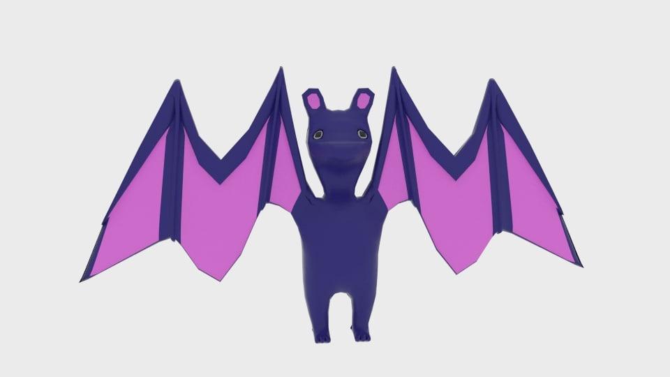 3d character toon bat