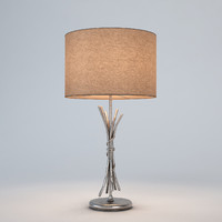 chelsom silver sculpture table lamp max