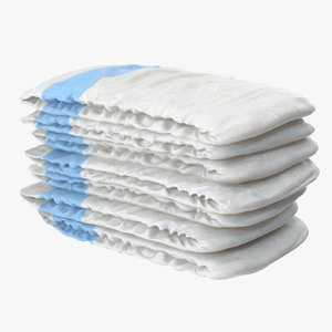 diaper stack blue 3d max