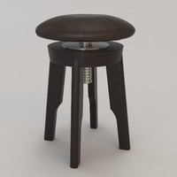 capella stool christian liaigre 3d model