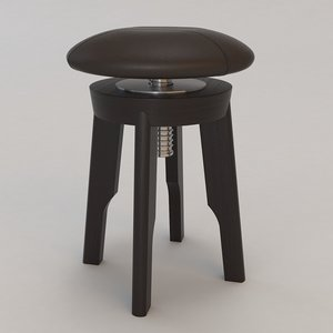 capella stool christian liaigre 3d model