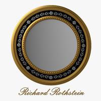 elegant silver gold mirror 3d max