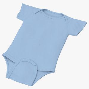 3d onesie blue - model