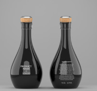 Original bottle of champagne - mockup