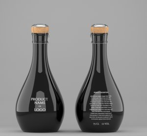 3d model mockup original bottle champagne