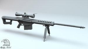 3d sasr barrett m82 model