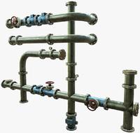 tubes modular 3d 3ds