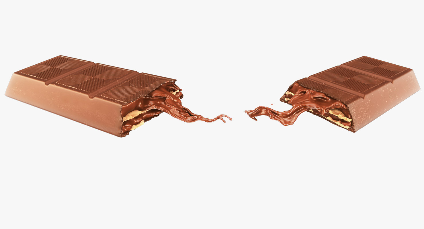 3d model chocolate product advertising