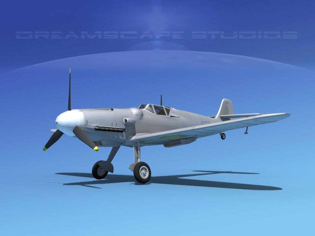 3ds messerschmitt bf-109 fighter