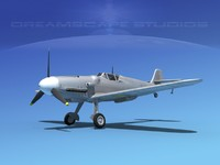 3ds messerschmitt bf-109 fighter