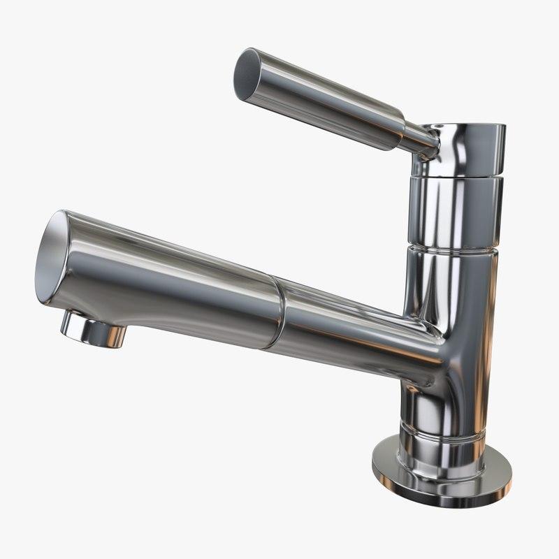water tap 3 3d obj