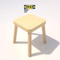 3d model of ikea flisat childrens stool