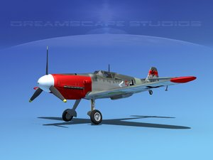 messerschmitt bf-109 fighter obj