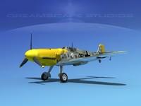 messerschmitt bf-109 3d dxf