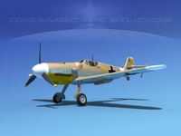 messerschmitt bf-109 3d model