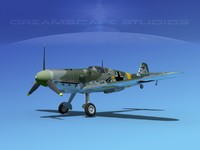 lwo messerschmitt bf-109 fighter