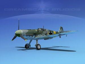 lwo messerschmitt bf-109 fighter