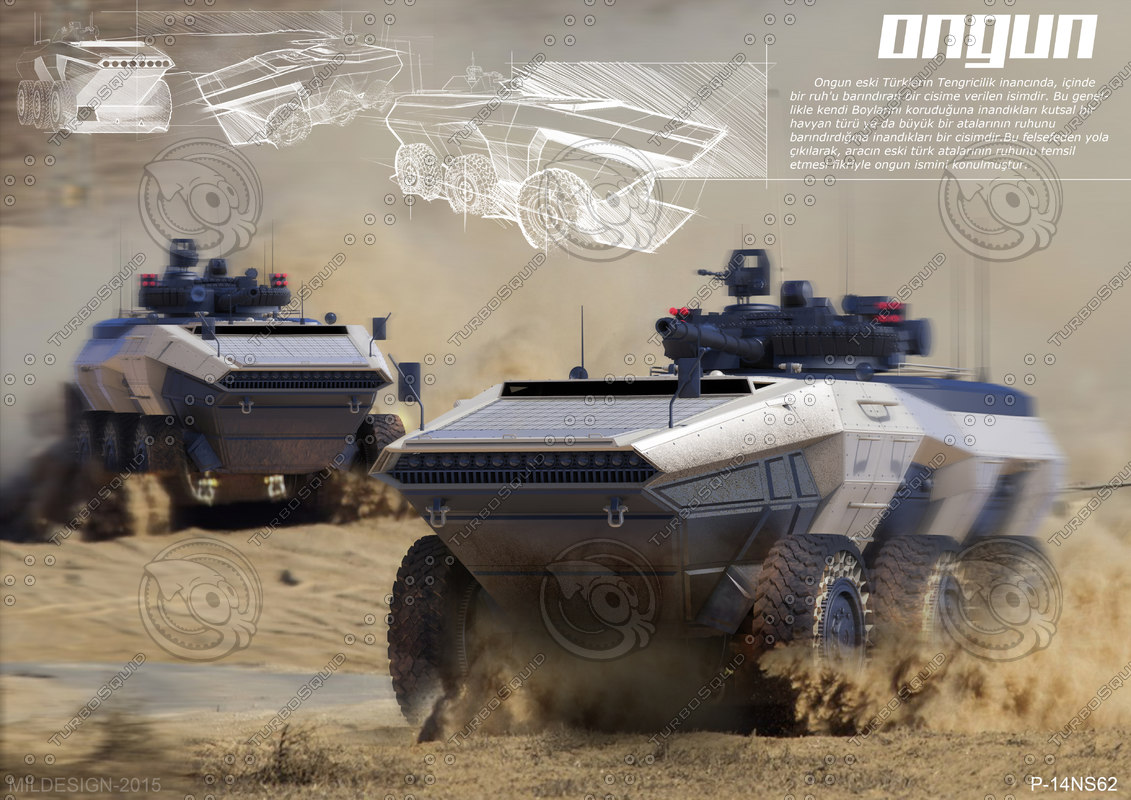 3d model ongun armored personnel carrier