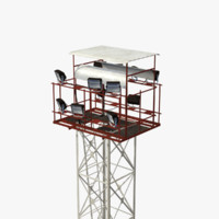 real-time light tower 3d model
