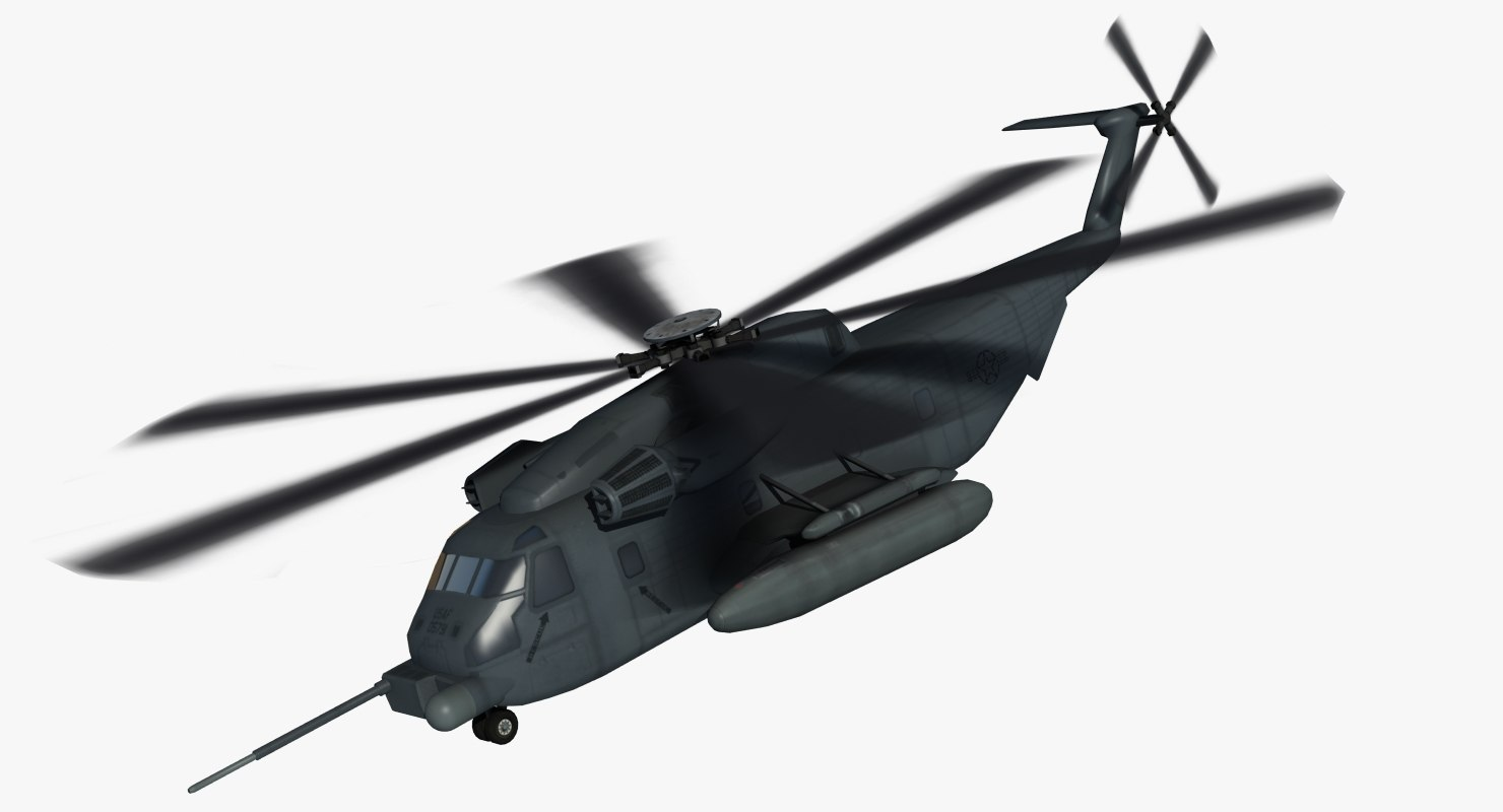 3d mh-53j pavelow rescue helicopter model